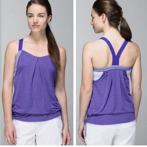 Lululemon rest less yoga tank size 6 bruised berry